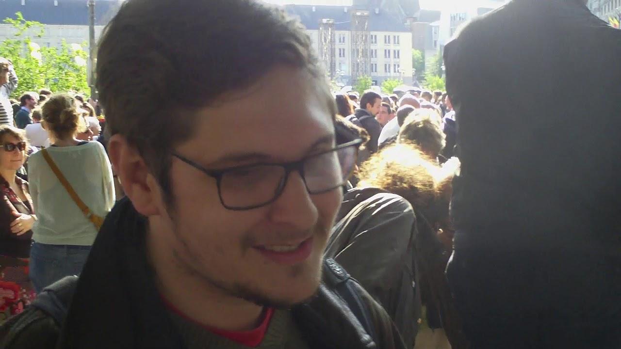 Dans le rassemblement anti-fasciste du 29 mai 2019 à Liège avec les amis