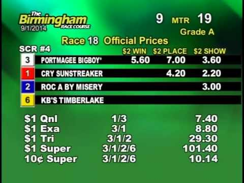 09/01/14 Afternoon Race #18