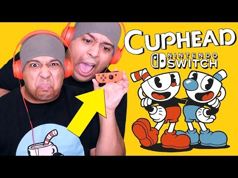 PLAYING CUPHEAD ON NINTENDO SWITCH WITH THIS TINY JOYCON.. RAGE!!!! [EARLY GAMEPLAY!]