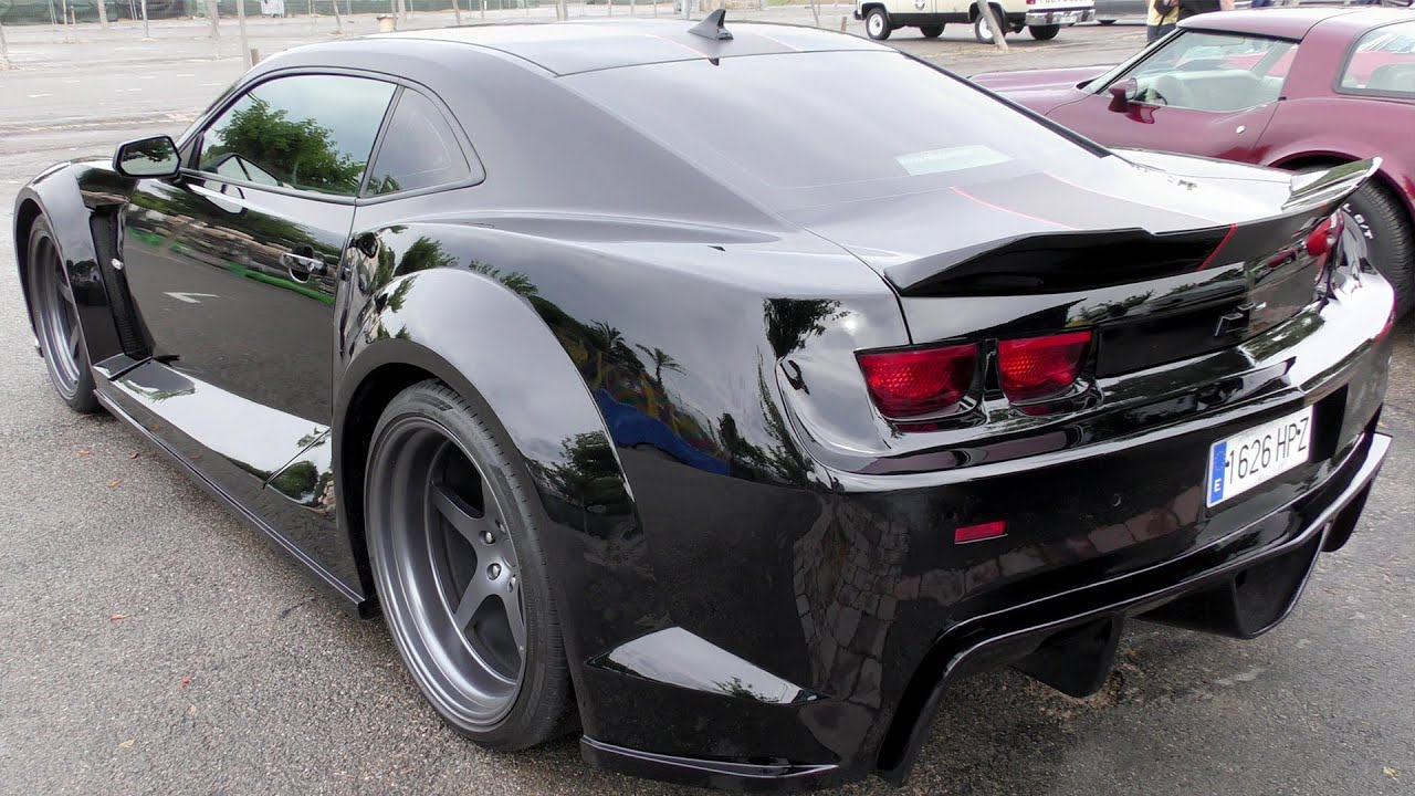 Tuning Chevrolet Camaro 2016 Top Tuned Car Wide Body Around Car 4k Ultra Hd Youtube
