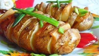 Картошка с салом и чесноком в фольге