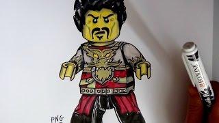 How to Draw RAY from Lego Ninjago