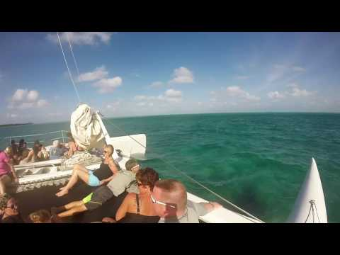 Catamaran to Stingray City. The complete journey. Grand Cayman