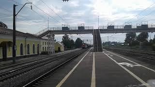 Приветливый Электровоз ВЛ80С 2098 с грузовым поездом на ст Гороховец