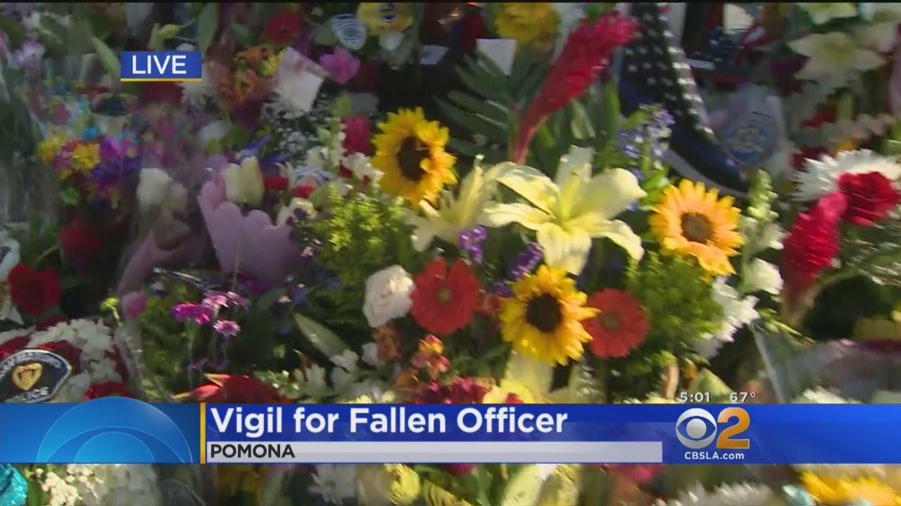 Vigil Planned For Slain Pomona Officer As Memorial Grows