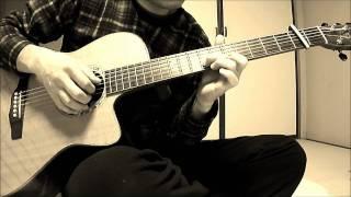 涙そうそうのソロギターです。 雰囲気を出すためにセピアトーンにしてみ...