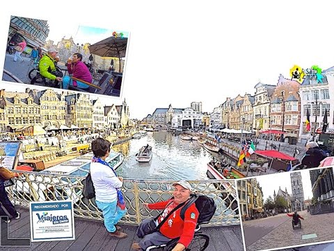 Ghent in Flanders with wheelchair