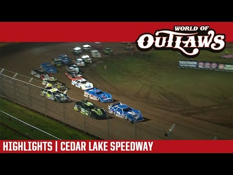 World of Outlaws Craftsman Late Models Cedar Lake Speedway August 4, 2018 | HIGHLIGHTS