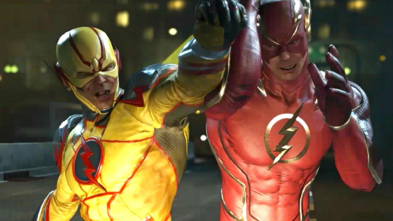 Flash Vs Reverse Flash Fight Scene - Injustice 2 Justice ...