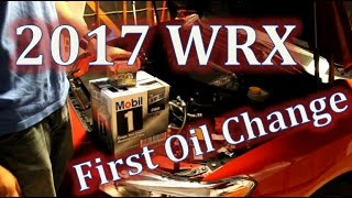 2017 wrx first oil change