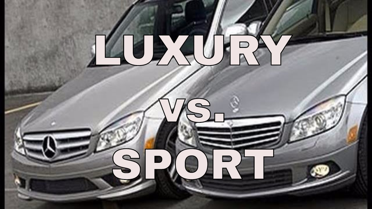 Mercedes Benz C Class Sport Vs Luxury Video 2 3 Youtube