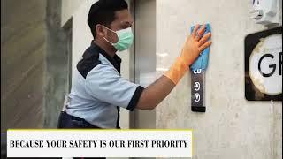 Sleman city hall turut ambil bagian dalam gerakan pencegahan penyebaran virus corona salah satunya dengan penyemprotan disinfectant di setiap area mall sebel...
