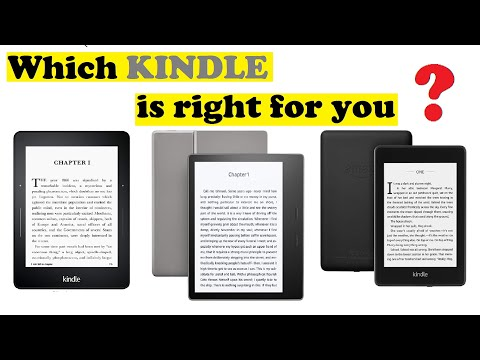 Which KINDLE is right for you? | voyage | paperwhite | oasis |