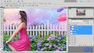 Создаём красочный летний коллаж в Фотошоп #3
