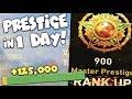 PRESTIGE TWICE in 1 DAY (125,000 XP PER GAME!) - CoD WW2