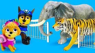 Игрушки Щенячий патруль ищут животных! Детское видео про игрушечный зоопарк! Игры для детей