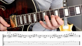 Jazz guitar lick lesson in C major with TAB