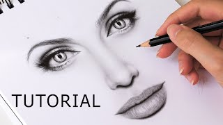 mouth drawing easy step tutorial realistic beginners nose draw scary eyes lips eye philatelicsannex open