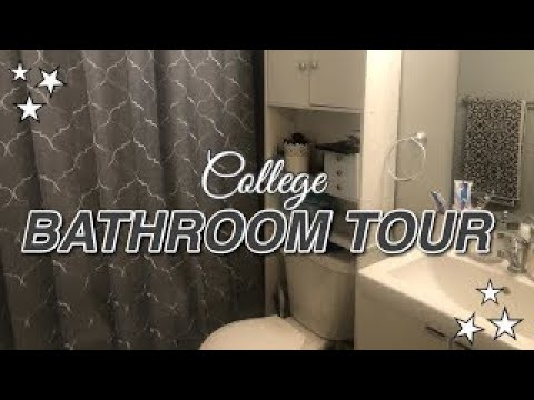 College Dorm Bathroom Tour 2021 Organization And Storage Ideas For A Small Under 100 Youtube