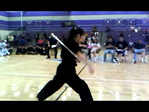 Black belt with amazing bo staff kata - YouTube