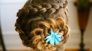 Cute Hairstyles for Long Hair - Dutch Flower Braid Tutorial Thumbnail