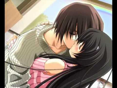 Horny anime girls kissing
