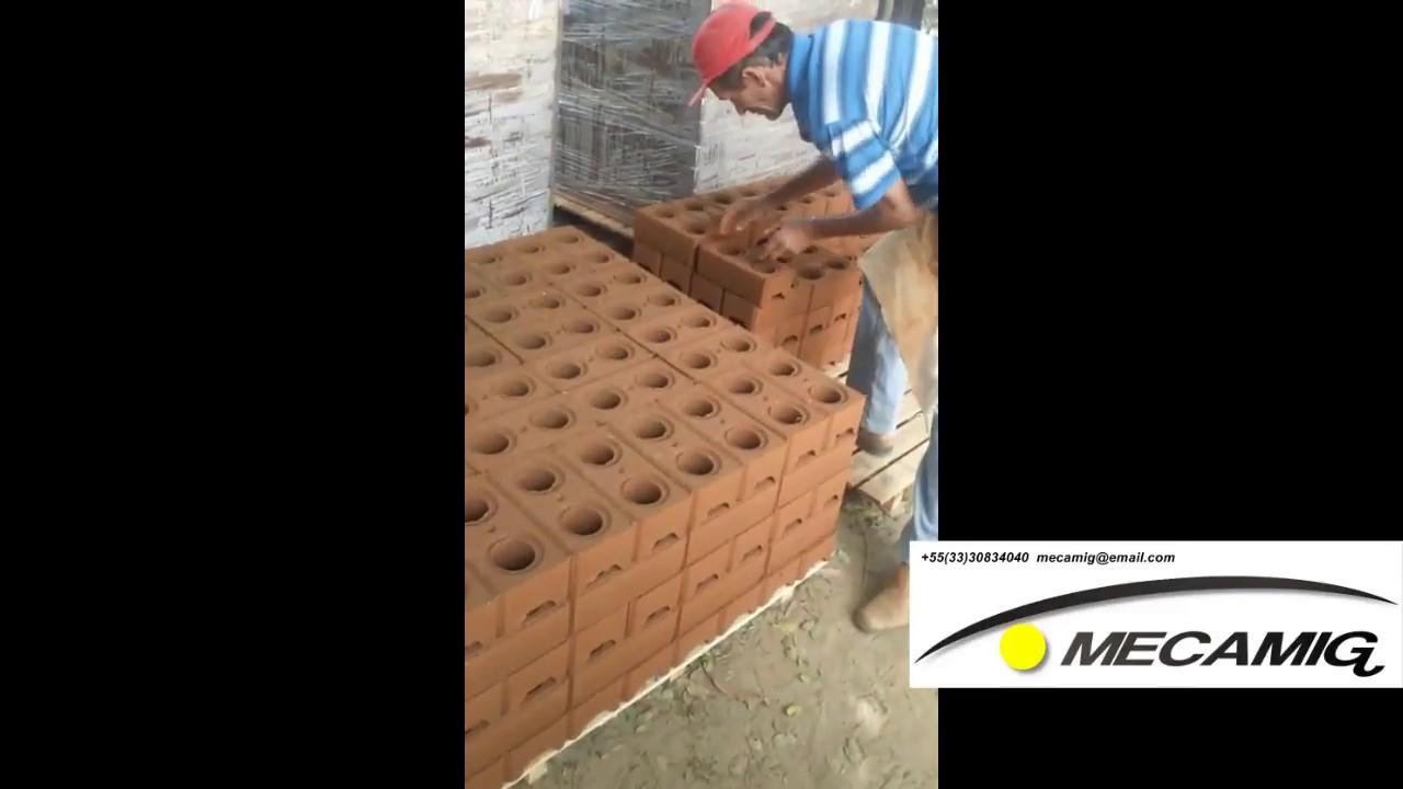 Prensa de ladrillo ecol gico hidraulica youtube for Ladrillo hidraulico