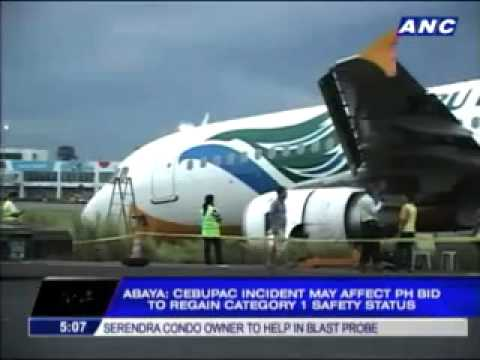 cebu pacific aircraft davao accident On june 2, 2013 a cebu pacific air a320-200 skidded off the runway on landing at davao all 171 passengers and crew are alive ==cause of incident==.