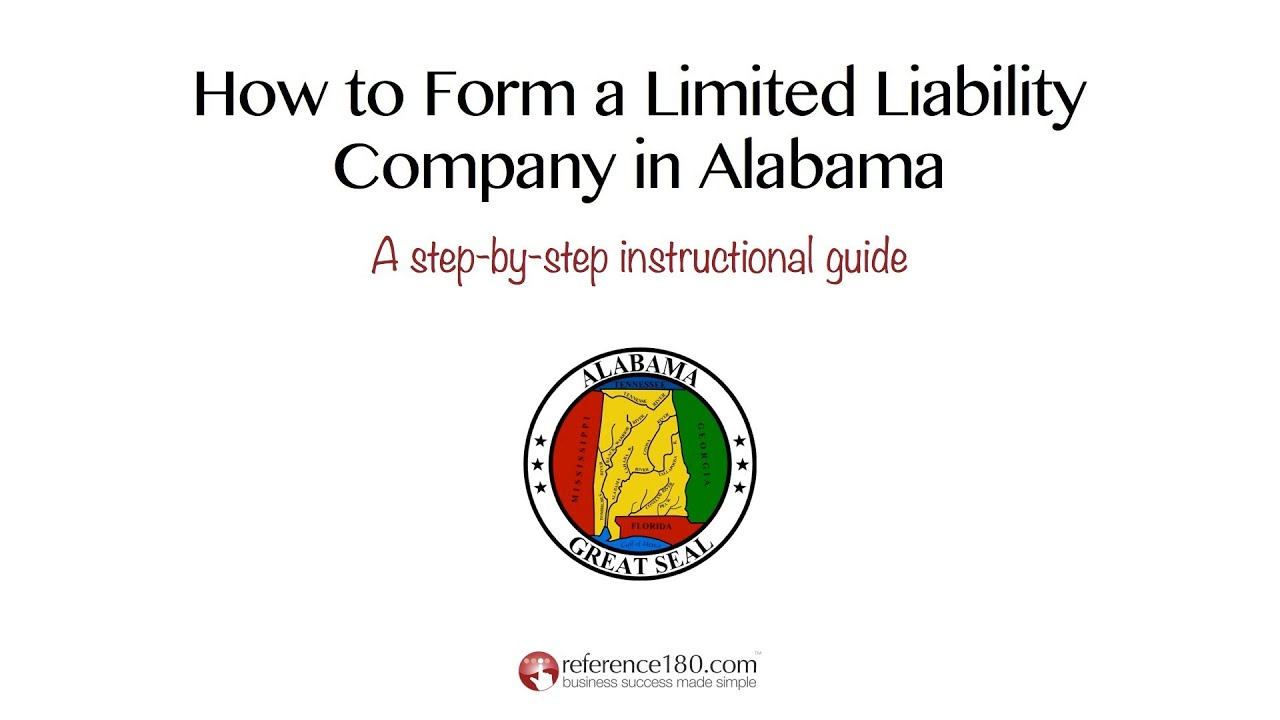 How To Form An Llc In Alabama Youtube
