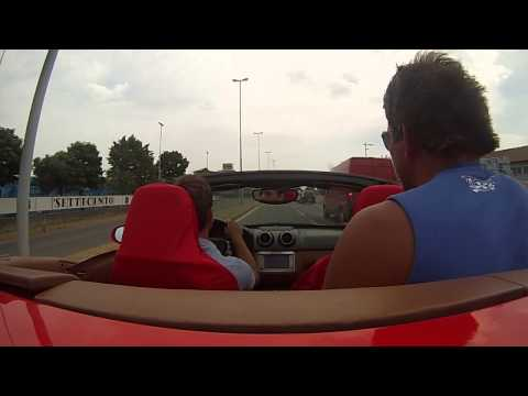 Ferrari california crash Testdrive em Maranello