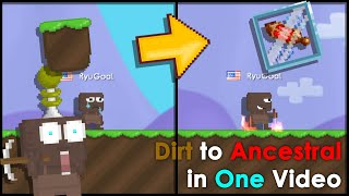 Growtopia Dirt to Ancestral Lens of Riches in One Video!