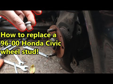 DIY Honda Civic Wheel Stud replacement