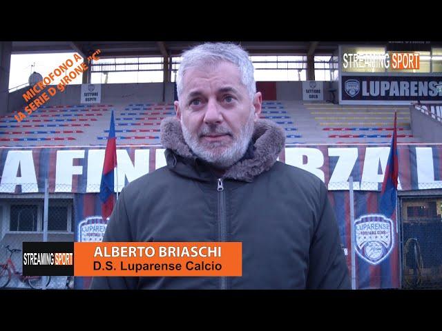 MICROFONO A.... Alberto Briaschi D.S. della Luparense Calcio