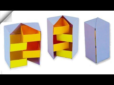 How to make a paper box | DIY Secret Stepper Box | Easy paper crafts
