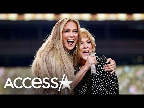 Jennifer Lopez Sings w/Mom at Vax Live: The Concert