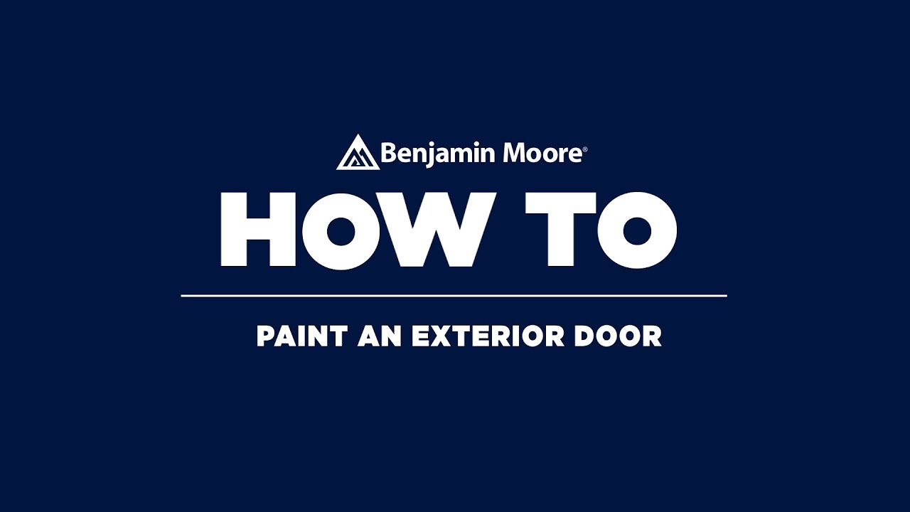 How To Paint A Front Door | Benjamin Moore Aura Grand Entrance