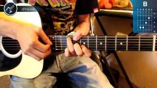 cmo tocar yellow de coldplay en guitarra hd tutorial acordes christianvib