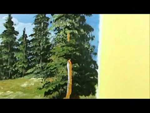 Part 8 landscape acrylic how to paint tall trees youtube for How to paint a tree