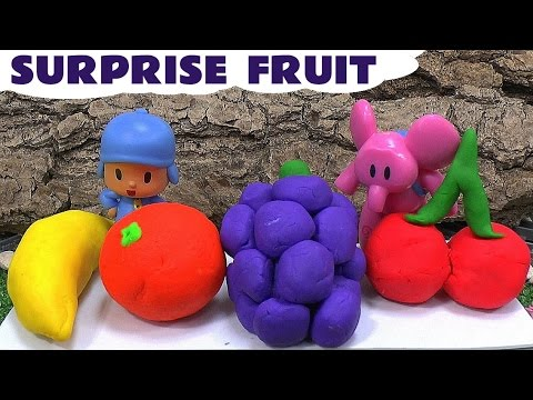 Thumbnail: Play Doh Shopkins Fruit Surprise Eggs Pocoyo Disney Thomas And Friends Toys Play-Doh