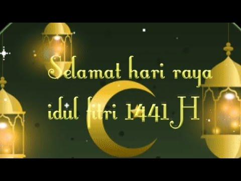 Ucapan Selamat Idulfitri 1441 Hijriyah Animasi Bergerak Youtube
