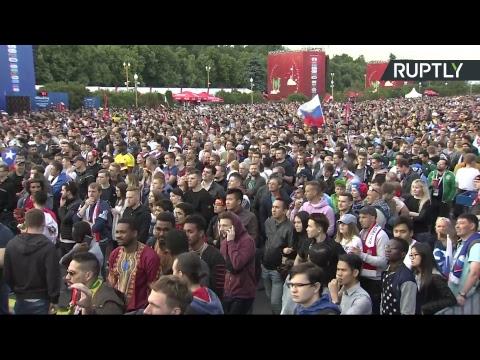 В Москве проходит фестиваль болельщиков по случаю старта ЧМ-2018