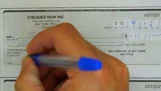 Comment bien remplir un chèque