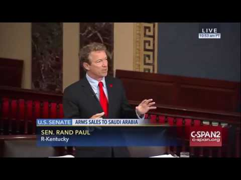 Rand Paul FULL speech to Block $1 Billion Saudi Arms Sale