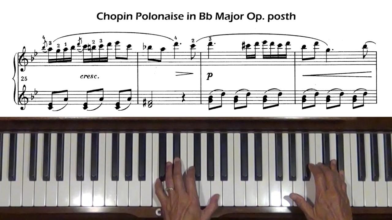 Chopin, polonaise in c minor, op. 40, no. 2. [piano tutorial +.