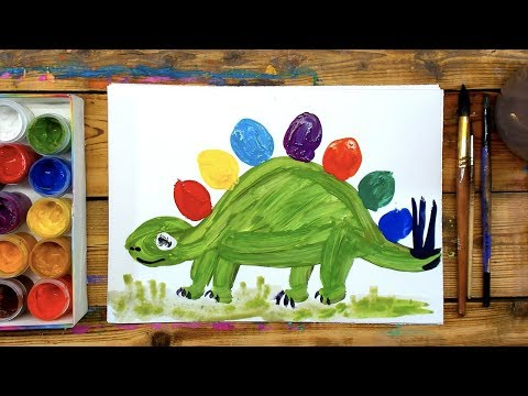 Видеоурок рисования гуашью для детей 6 лет