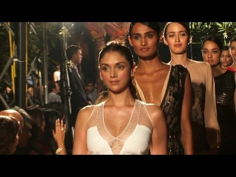 A Fashion Show Of Spanish Designers With President Of Cataonia and Aditi Rao Hydari