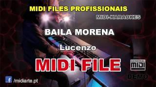 ♬ Midi file  - BAILA MORENA - Lucenzo