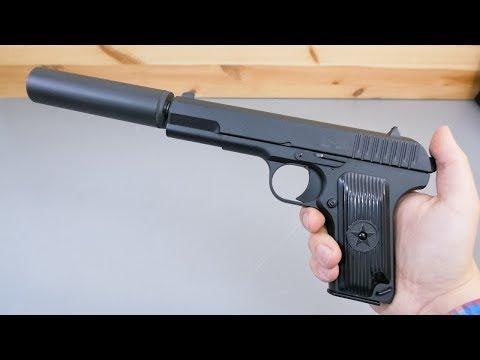 Страйкбольный пистолет Stalker SATTS (ТТ, глушитель) видео обзор