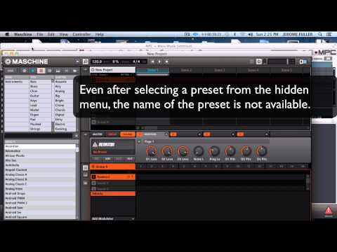 MPC Renaissance vs Maschine's plugin preset selection