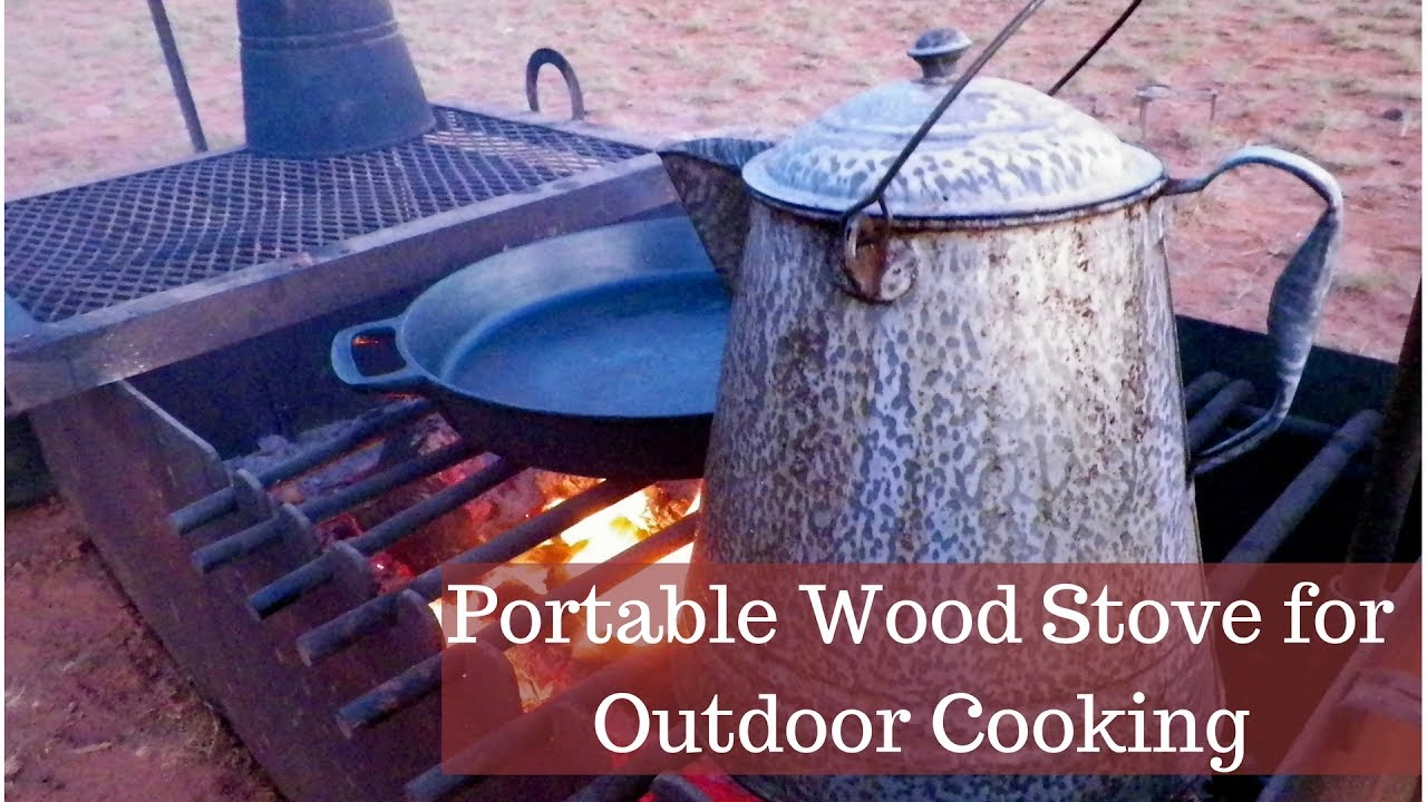 Portable Wood Fire Box Or Stove For Outdoor Cooking Youtube